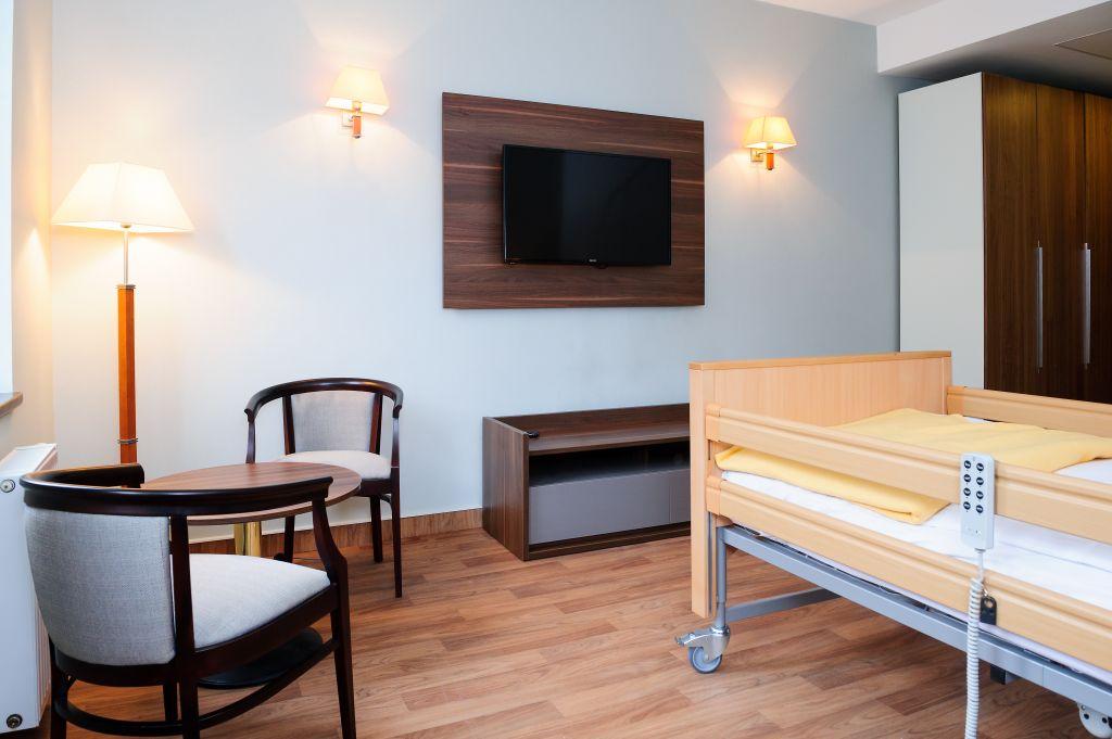 Einzelzimmer im Pflegeheim